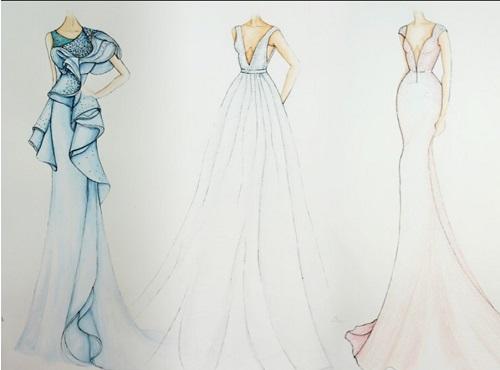 Mẫu bản vẽ thiết kế thời trang ấn tượng của cựu sinh viên - Cao đẳng Việt Mỹ