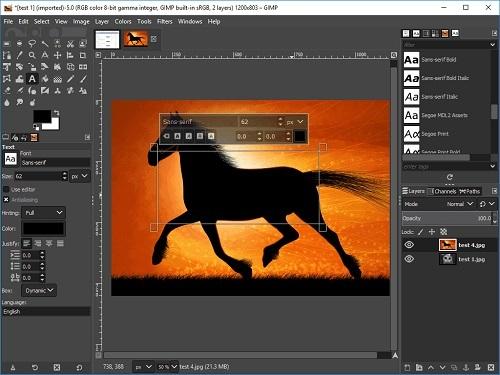 Phần mềm thiết kế và chỉnh sửa ảnh GIMP