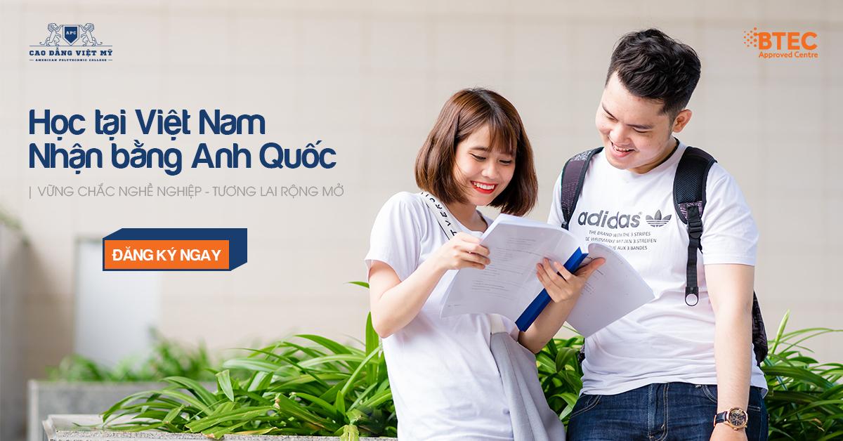 Học phí chương trình BTEC của Cao Đẳng Việt Mỹ