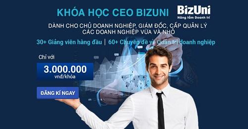 Khóa học quản trị doanh nghiệp ngắn hạn tại Bizuni được bạn trẻ đánh giá cao