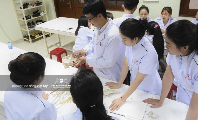 Sinh viên Cao đẳng Việt Mỹ nhóm ngành sức khỏe thực hành nghiên cứu thực tế.